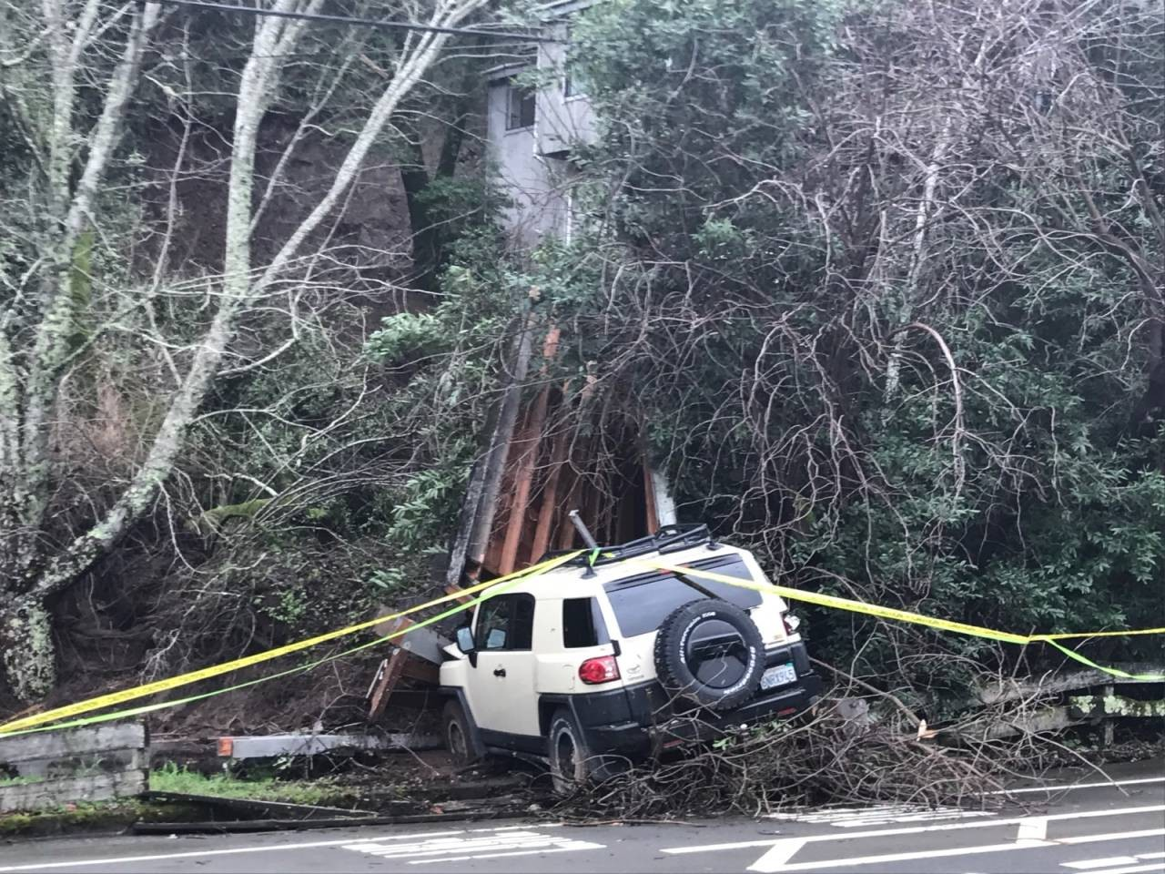 Ross Valley Firefighters Rescue Family Trapped by Mudslide