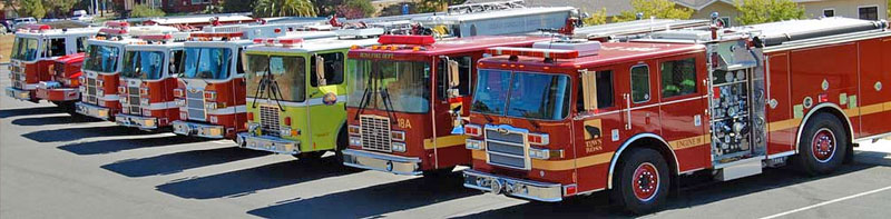 Ross Valley Fire Engines 18, 19, 20, 21, 22, EMA