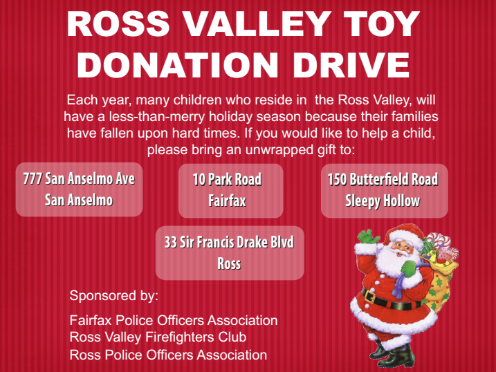 Ross Valley Firefighters Toy Donation Drive